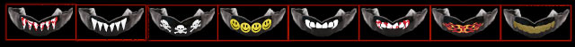 Fangs, Flames, Shark Teeth, Gold Teeth, Skull and Cross Bones, Smiley Face Mouthguards